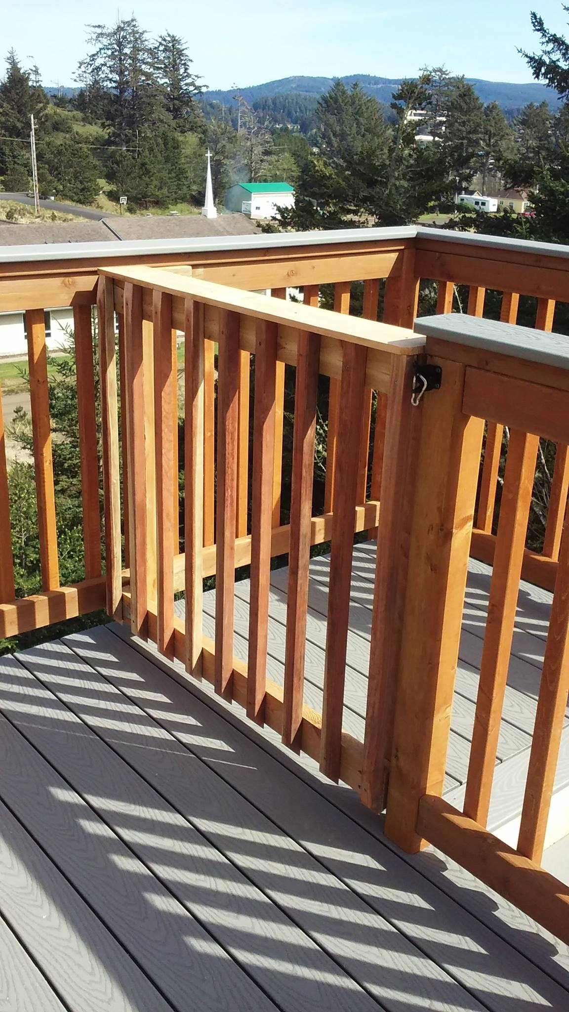 Two Built In Baby Gates, One At At Top Of The Interior Stairs And The Other  At The Top Of The Deck Stairs ...
